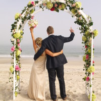 Beach Wedding Ceremony in the Hamptons
